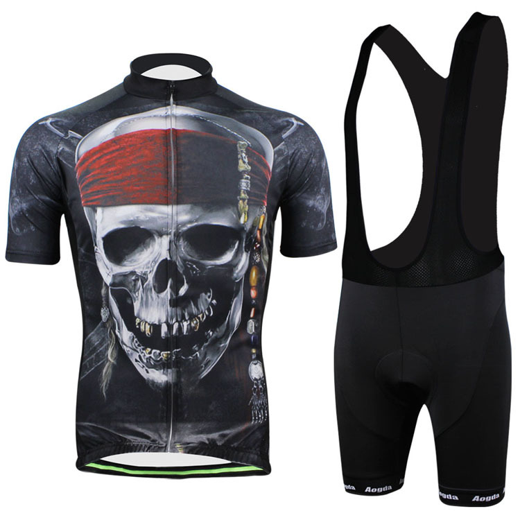 Pirate Skull Cycling clothing /Cycling wear/ Cycling jersey short sleeve Clothing pirate skull cycling clothing cycling wear cycling jersey short sleeve clothing