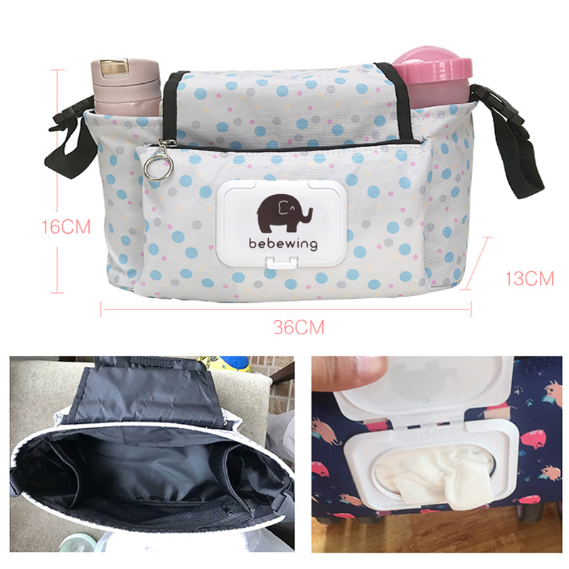HTB16Oi9bSzqK1RjSZFpq6ykSXXao Baby Stroller Organizer Bag with Tissue Pocket and Cup Holders Extra-Large Storage Space Baby Stroller Accessories Bag Nappy Bag