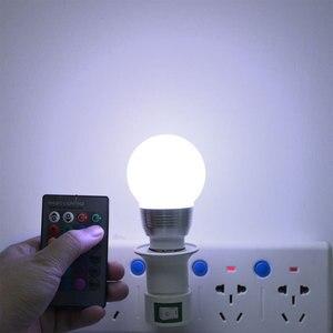 Image 5 - E14 E27 RGB LED ışık uzaktan kumanda ile ampul Bombillas LED lamba akıllı ampul AC 85V 265V ampul LED ampul 5W 7W