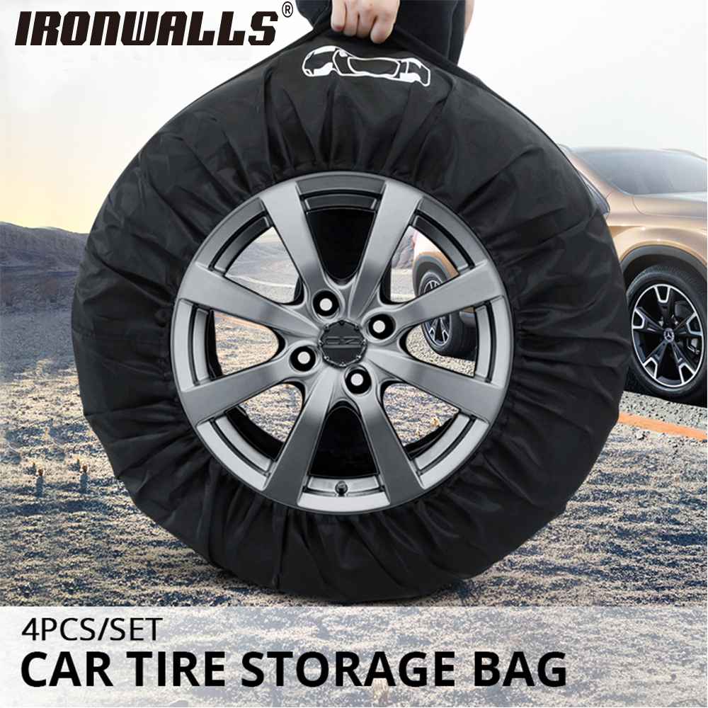 32e88f3d99 Ironwalls Tire Cover Case Polyester Winter Summer Car Tires Storage Bag  Automobile Tyre Accessories Vehicle Wheel Protection