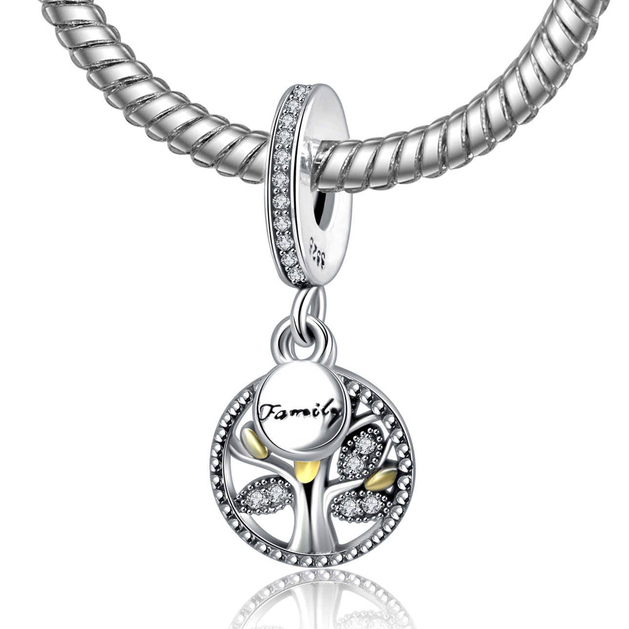 5d4ef1eb3 2018 Authentic 925 Sterling Silver Family Tree Charm Beads Fit Original  Pandora Bracelet Luxury DIY Making