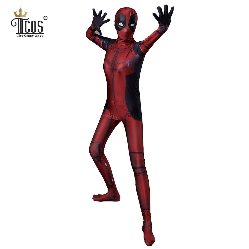 Frau Deadpool Cosplay Kostüm Maske Erwachsene Spandex Lycra Zentai - Kostüme