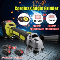 188VF/218VF Brushless Cordless Angle Grinder Electric Power Angle Grinding Cutting 10/15cell large capacity Battery Tool Set