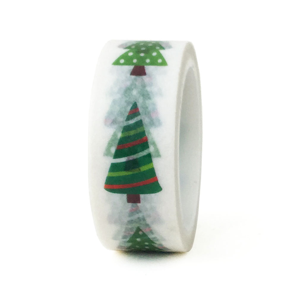 20pcs set Christmas Decoration Gift Accessories Green Pine Festival DIY Decoration Washi Tape Cute Stationery Tape in Office Adhesive Tape from Office School Supplies