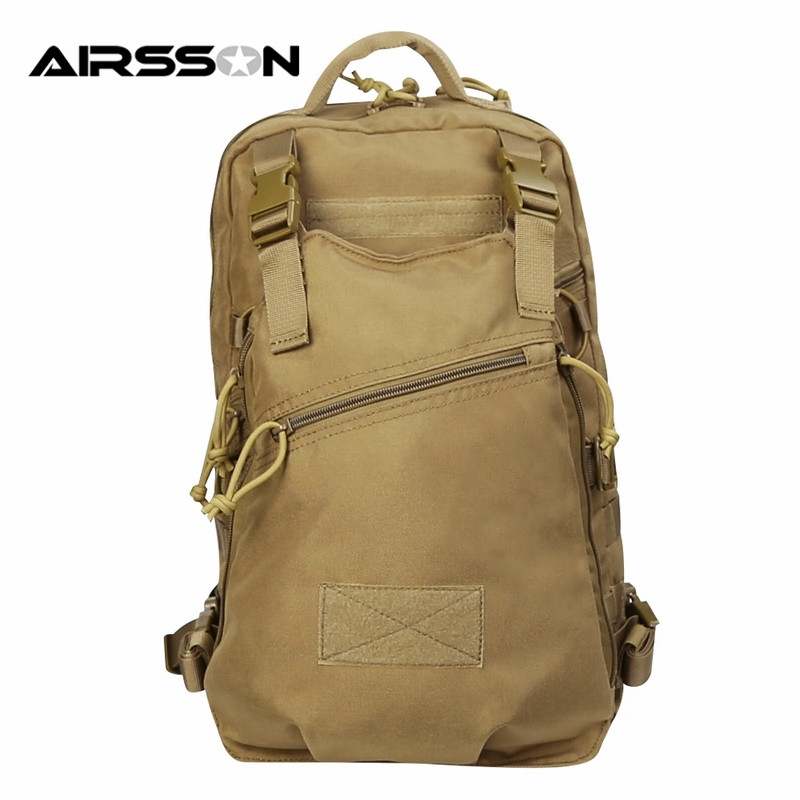 Airsson Nylon Outdoor Hunting Combat Durable Backpack Molle Design Camo Military Waterproof Double Shoulder Bag Large Capacity emerson tatical waist bag 1000d nylon molle hunting pouch camo camo waterproof durable army multifunction waist pack pouch