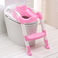 Baby Children Kids Boys Girls Potty Seat Baby Toilet Seat With Adjustable Ladder Cover Folding Chair