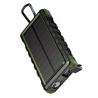 EasyAcc Solar Power Bank Waterproof 24000mAh Solar Charger Ports External Charger Powerbank for Xiaomi Smartphone with LED Light