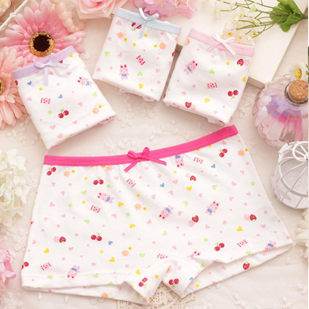 2018 Popular Kid Girl Cotton Cartoon Panties Breathable Boxer Shorts Underwear Underpants