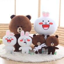 40cm / 15.8in Kawaii Barna Medve és Cony Rabbit Plüss Játék Sok különböző fajta koreai Cartoon Figura töltött Soft Doll