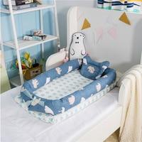Baby Crib Pillows Bumper 90CM Length Travel Bed For Children Pillow Infant Bed Kids Cotton Cradle For Newborn Baby Bassinet Port