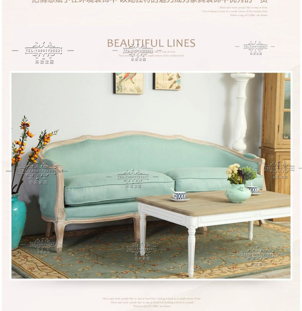 Nordic American Export Custom Furniture French Country Style Sofa European Retro Do The Old Wood Seat