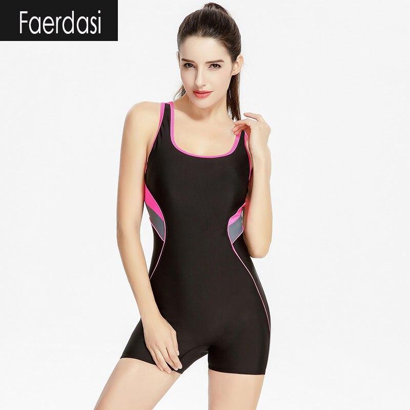 ФОТО faerdasi Racerback Swimsuit Women One Piece Swimsuits 2017 Women's Swimming suit Vintage Women's Swimwear Bodysuit Bathing suit