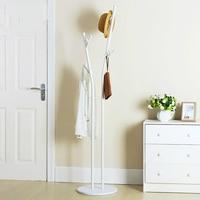White Simple Style Landing Coat Rack Iron Creative Hanger Simple Living Room Bedroom Clothes Rack