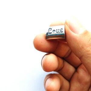 Image 5 - 승화 빈 심장 사진 구슬 금속 슬라이더 큰 구멍 5mm 유럽의 매력 뜨거운 전송 인쇄 재료 15 개/몫
