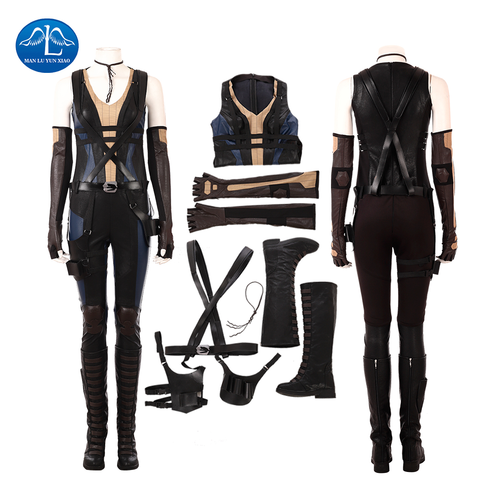 MANLUYUNXIAO Deadpool 2 Domino Cosplay Costumes d'halloween pour femmes x-force super-héros X-MAN Neena Thurman tenue sur mesure