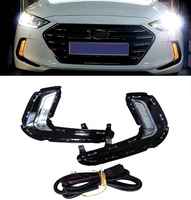 LED 2Way Daytime Running Light DRL With Yellow Signal Fog Lamp For Hyundai Avante AD Elantra
