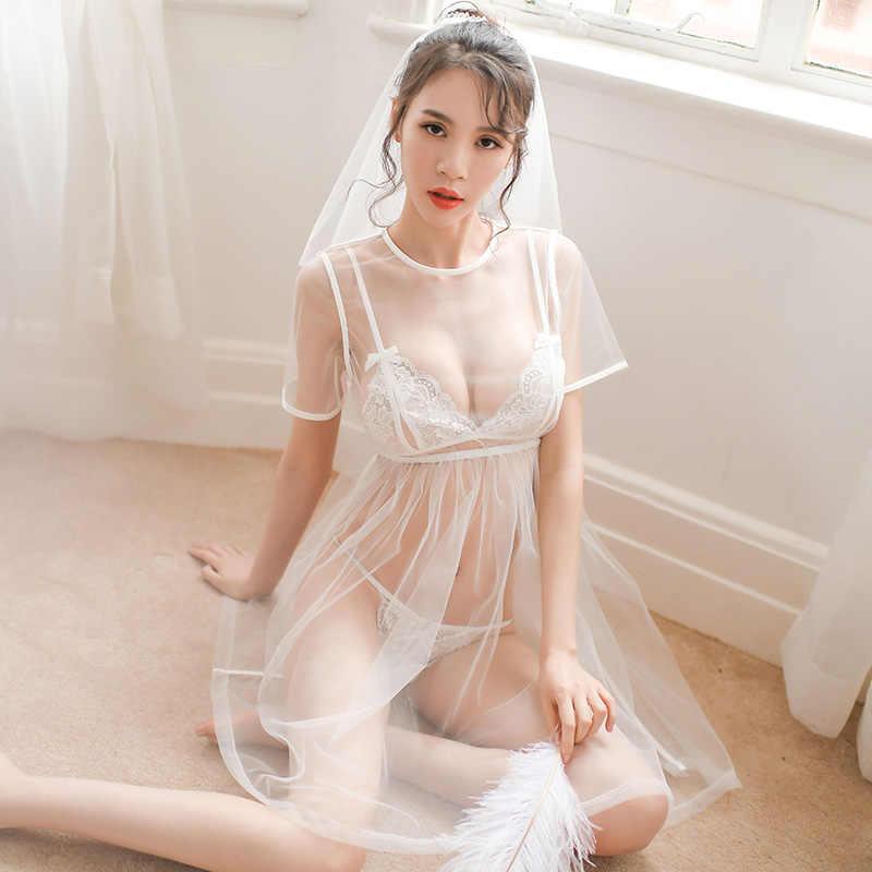 bride night dress with bra