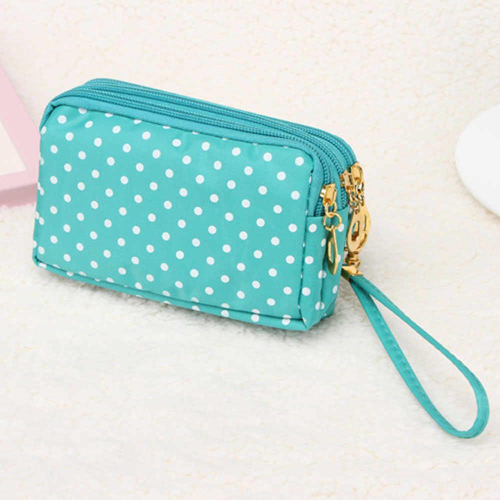 Sleeper #P52 Fashion Women Canvas bag Clutch Bag Messenger Wave Zipper Bag  кошелек женский cellphonepouch gift Free Shipping