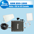 2G Voice 3G Data GSM 850 UMTS PCS 1900 Dual Band Mobile Phone Signal Booster ALC Control 75dB Cell Cellular Amplifier Repeater