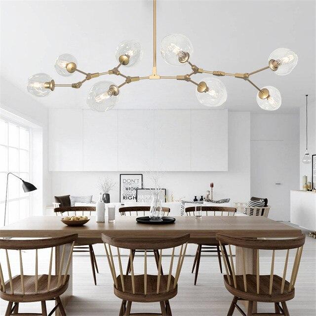 Moderno vetro di murano led illuminazione lampadario per sala da ...