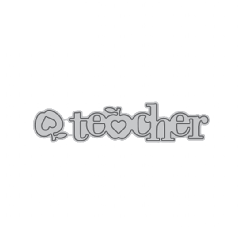 GJCrafts Letters Metal Cutting Dies new 2019 for craft Dies Scrapbooking Album Stencil Embossing Teacher Words Card Metal Dies in Cutting Dies from Home Garden