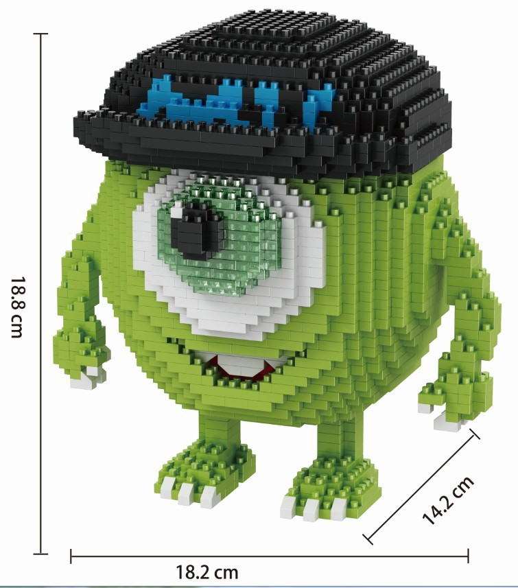 Image 5 - Mini Blocks Big size Cartoon Model Aliens Building Toy Anime Auction Figure Micro Brick Brinquedos Toys for Children Xmas Gift 8801-in Blocks from Toys & Hobbies