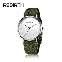 2017 New REBIRTH Watches Women Men Top Brand Luxury Unisex Nylon Strap Wristwatches Quartz Sports Watches