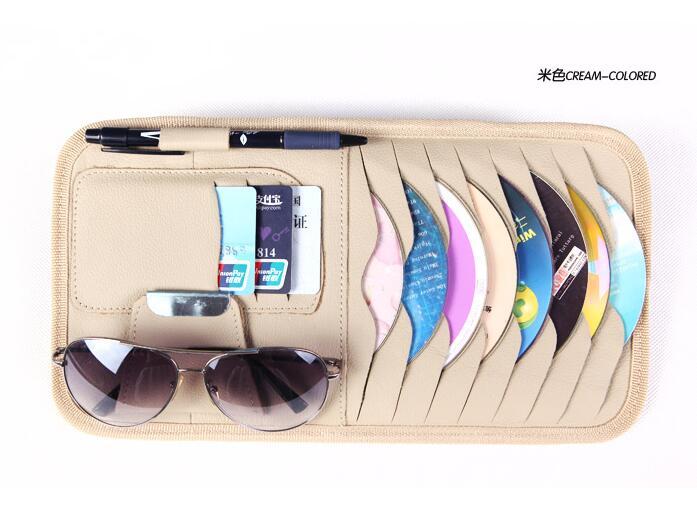 Automobile CD emballage de stockage cadre Pour Audi Q3 Q5 SQ5 Q7 A1 A3 S3 A4 S4 RS4 RS5 A5 A6 S6 C6 C7 S5 A7 S7 A8 Voiture accessoires