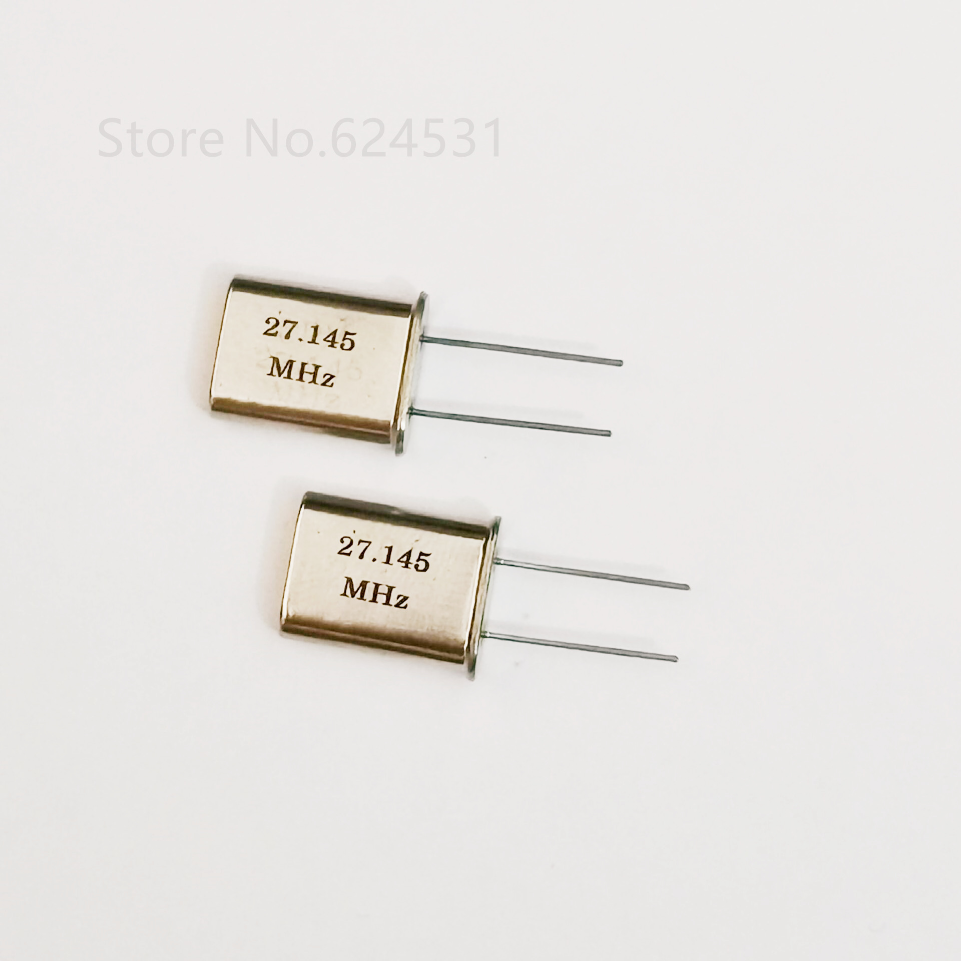10pcs HC-49U In-line Quartz Crystal Oscillator 27.145MHZ 27.145M Passive Crystal Resonator