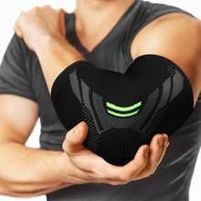 1pc cotovelo cinta apoio de compressão elástico bandagem respirável braço cotovelo banda capa lesão almofada de manga protetora reduzir a dor