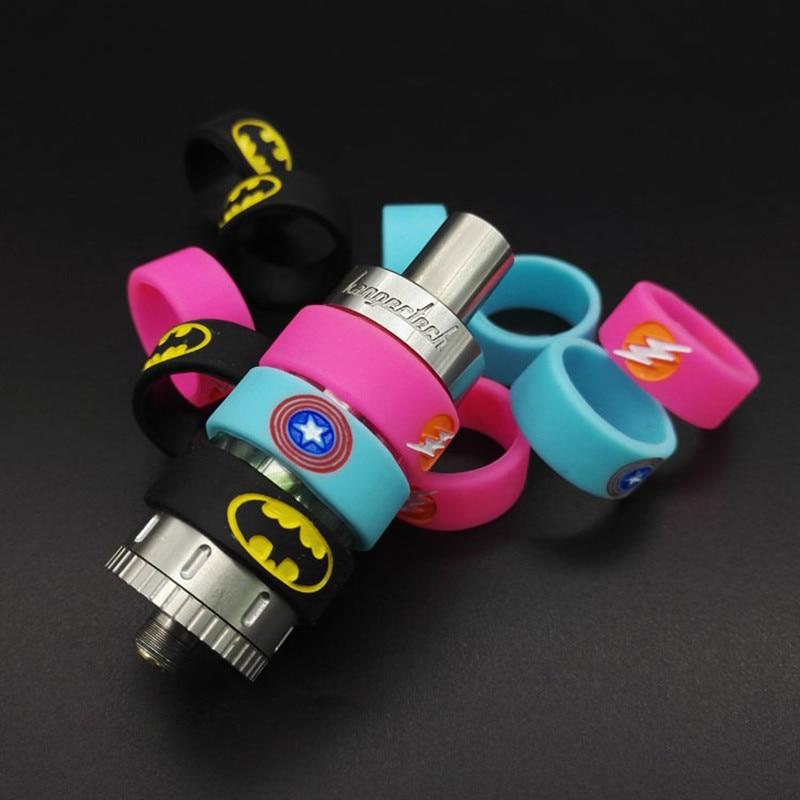 2pcs Batman Superman Vape Band Non Slip Silicone Ring for e-cigarette Decorative Protection Diameter 18-25mm Atomizer Kit