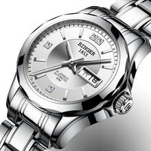 2017 Binger Watch Women Luxury Brand Japan Automatic Mechanical Movement Wrist Sapphire Waterproof Ladies Watch gold 8051-5
