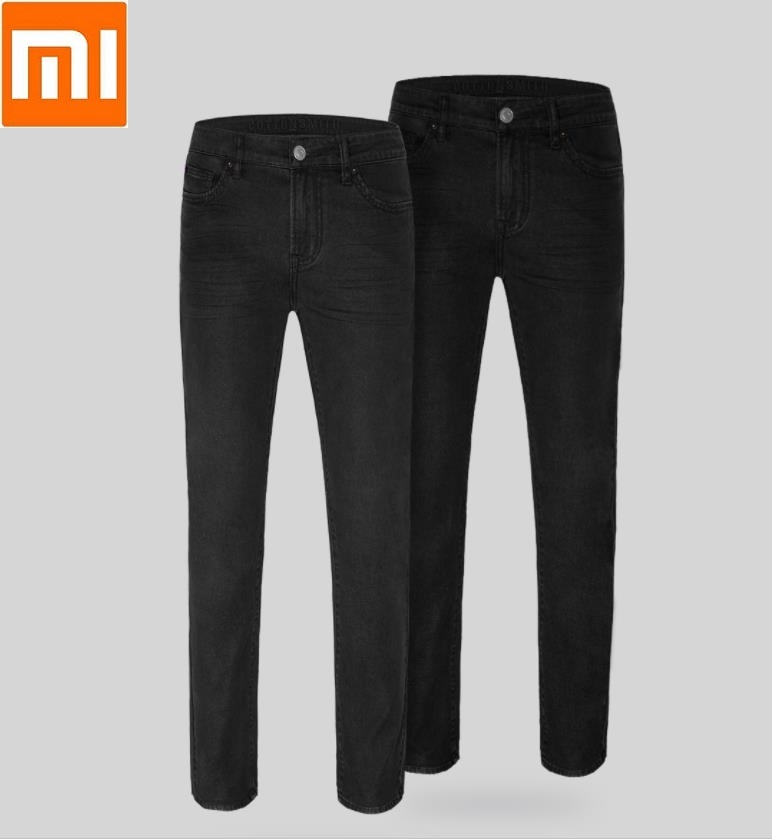 Xiaomi Classic black mens jeans Straight Environmentally friendly washing Denim trousersXiaomi Classic black mens jeans Straight Environmentally friendly washing Denim trousers