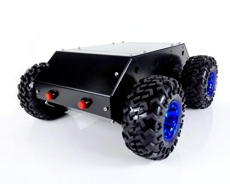 C400N 4WD Auto. Roestvrij Stalen Frame met 130mm wielen en Grote Power DC motoren. Super Belasting Voor DIY Speelgoed Auto-in Onderdelen & accessoires van Speelgoed & Hobbies op  Groep 2