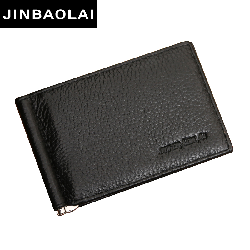 New Fashion Women Men Leather Money Clips Men Wallets Coin Zipper Pocket Purse Money Bag Clamp For Money Card Slots Clips Wallet