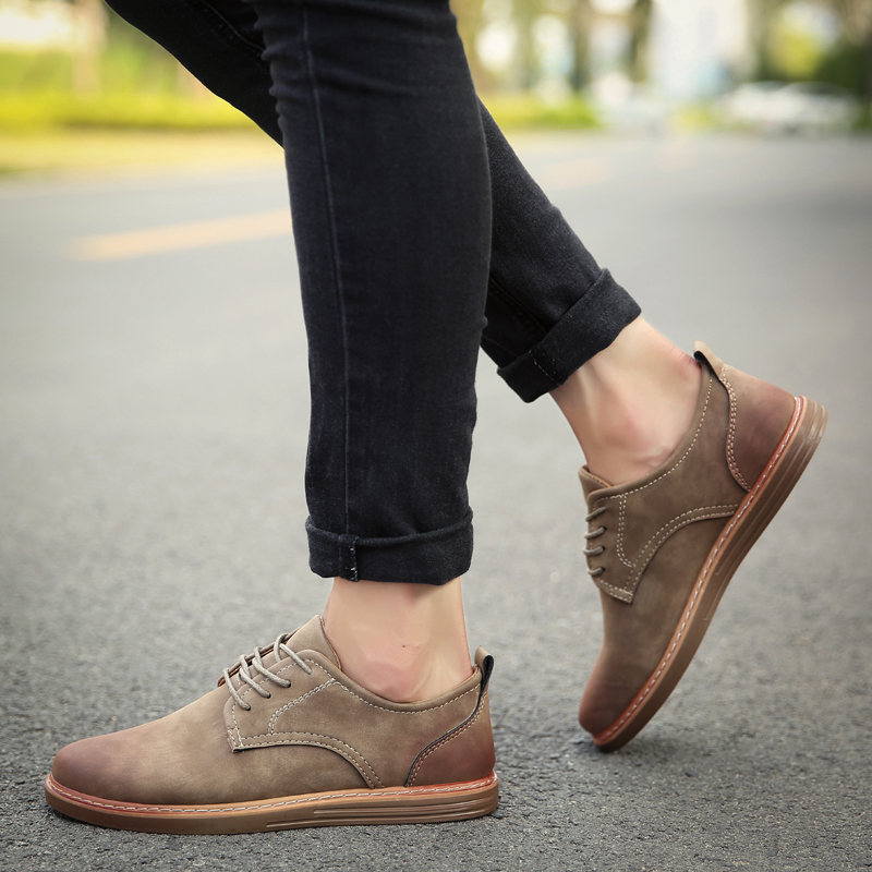 fashion leather casual shoes men comfortable leisure moccasins cheap dress male footwear work elegant boy oxford shoes for m (26)