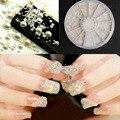 Moda 3D Dicas Da Arte do Prego de Cristal Simulado-Pérola Acrílico Gem Glitter Rhinestone Manicure 3D DIY Nail Art Decoração + roda