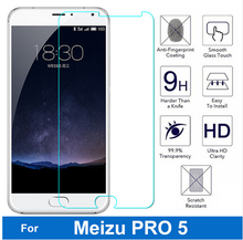 2.5D zero.3mm tempered glass For Meizu MX5 Professional display protector guard movie entrance case cowl +clear kits