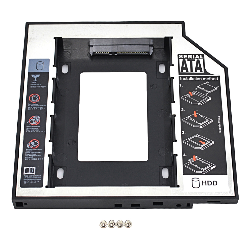 Chipal Universal 2nd Hdd Caddy 127mm 25 Sata 30 Ssd Case Hard Notebook Ide Interface Cdrom To Usb External Drive Circuit Board 3 Disk