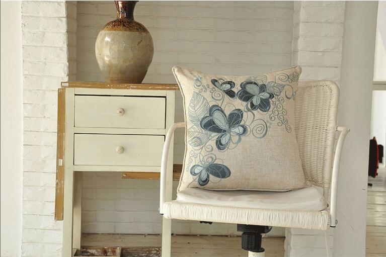 Broderie taie d'oreiller BOHO housse de coussin 100% coton mariage taie d'oreiller Boho décor à la maison, taille personnalisée et couleur 45X45 CM/40CMR