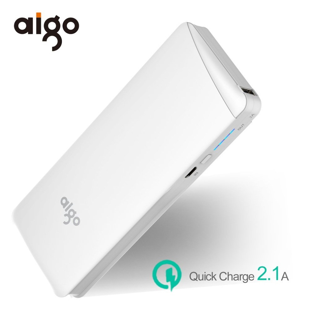Aigo 10000mAh Phone Charger Power Bank For iPhone X LED Micro Portable Mobile Phone Battery Charger Powerbank For Samsung S9 S8