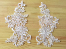 50pcs Fashion Corded Lace Patch Motifs Wedding Applique Patches Cord Flower Floral Sewing DIY Design TT194 corded mouse
