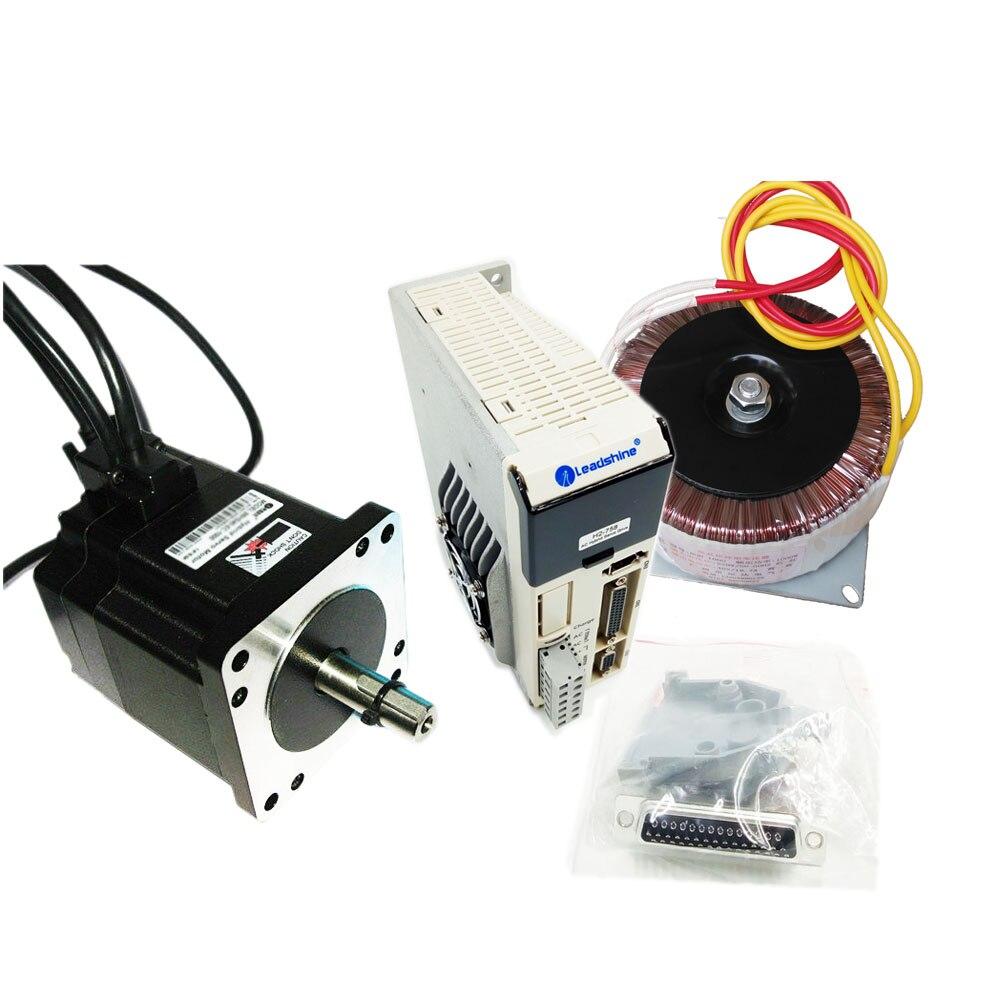 Kit d'entraînement de moteur pas à pas en boucle fermée Nema34 4.5Nm + H2-758 Servo d'étape hybride de transformateur à ca + 86HSM45-E1 pour la Machine de gravure