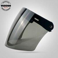 Three Snaps Visor Glass TORC BEON Vintage Helmet Windshield Harley Helmet Shield Pilot Helmet Visor Jet