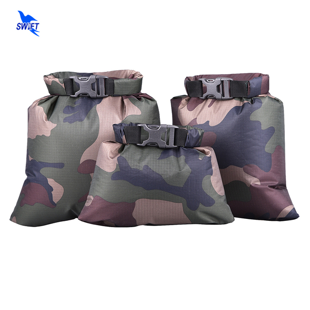 Ultralight Swimming Dry Bag 3pcs/set Outdoor 190T Polyester Taffeta Kayaking Storage Drifting Waterproof Rafting Bag 1.5-3.5L