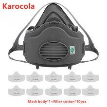 Пылезащитная маска на половину лица, респиратор 3200, пылезащитные и высокоэффективные фильтры, защитная промышленная Пылезащитная маска для респиратора PM2.5