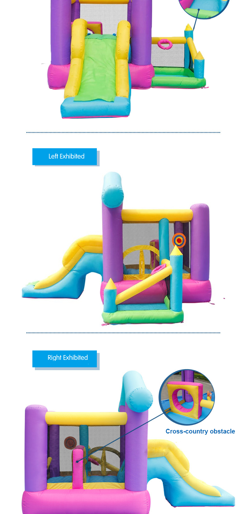 HTB16OnGPpXXXXXbXpXXq6xXFXXXo - Mr. Fun Inflatable Bouncy House Big Slide For Kids With Ball Pool, Target, & Obstacle Course With Blower