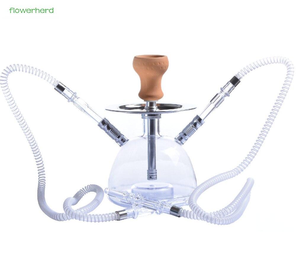 Verre narguilé Shisha fumer Pipe à eau tabac herbe Pipe à eau télécommande narguilé Pipe cadeaux ensemble complet lumière LED