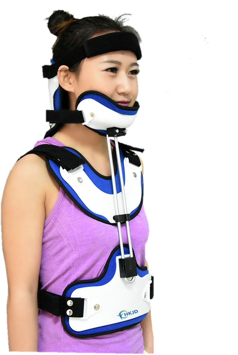 Free Shipping Adult Head Neck Orthosis Surgery Cervical Thoracic Stent Fracture Fixation Rehabilitation Brace Cervical Traction