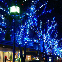 22M 200led 12M 100LED Christmas Garden Light Holiday Solar Led String Light RGB Single Color Decoration